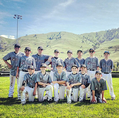 12U Black Team Photo - Chelan Tournament Placed 3rd