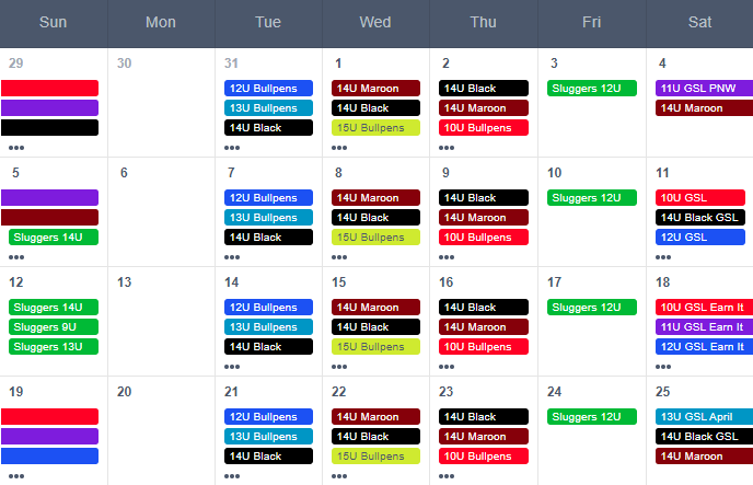 Image of new schedule